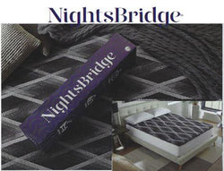 NightsBridge Graphite-Infused High Density Memory Foam Mattress Topper