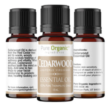Cedarwood Pure Essential Oil 15 mL by Pure Organic Ingredients, Clear Healthy Skin, Soothes the Body & Mind, Reduces Stress,Warm Woody Aroma, Convenient Dropper Cap Bottle