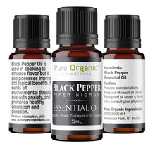 Black Pepper Pure Essential Oil 5 ml by Pure Organic Ingredients,Cooking Spice, Spicy Aroma, Aids with Anxiety