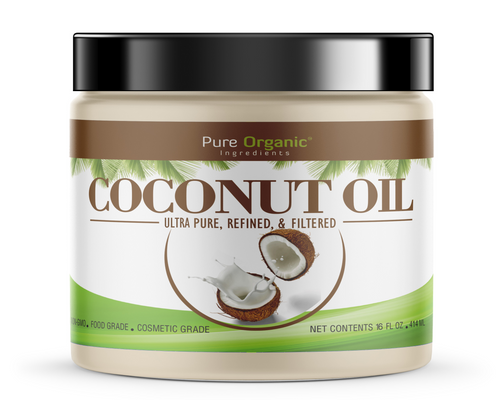 Coconut Oil, Refined, Ultra Pure, Refined, Filtered, Food Grade, Non-Hydrogenated, No Coconut Flavor or Scent, Non-GMO