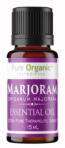 Marjoram Pure Essential Oil 15 ml by Pure Organic Ingredients, Calming & Relaxing, Stress Relief, Safe for Cooking