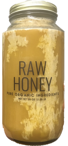 Pure Organic Ingredients Raw Honey 36 oz , Cold Pressed & Unfiltered (36 oz (2.25 lb))