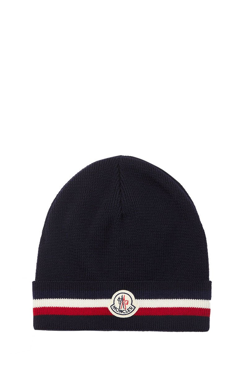 Moncler, Logo Striped Beanie