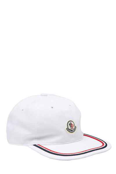 Moncler, Striped Trim Baseball Hat
