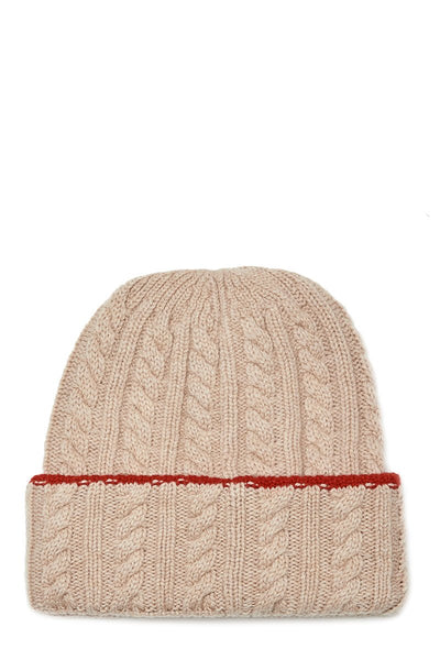 Color Tipped Cable Beanie