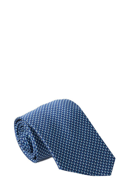 Brioni, Navy Tie & Pocket Square Set