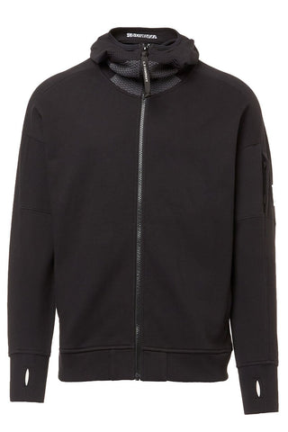 Diagonal Raised Fleece Full Zip Lens Hoodie