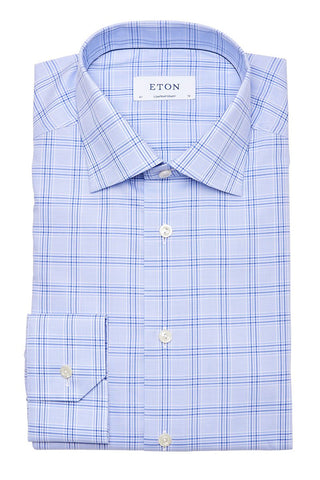 Eton, Windowpane Dress Shirt