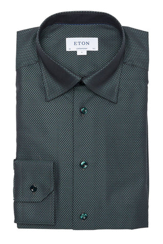 Eton, Herringbone Twill Shirt
