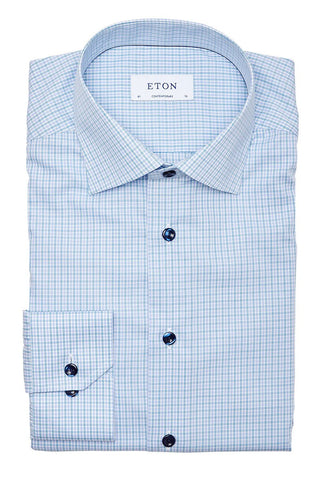 Eton, Checked Poplin Shirt