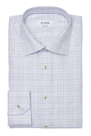 , Plaid Check Dress Shirt