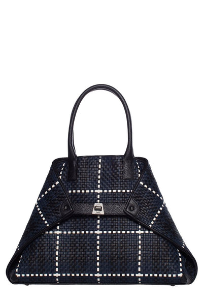 Akris, AI Braided Leather Shoulder Tote