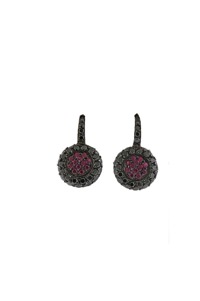 earrings black products spinel nile earthen stud img