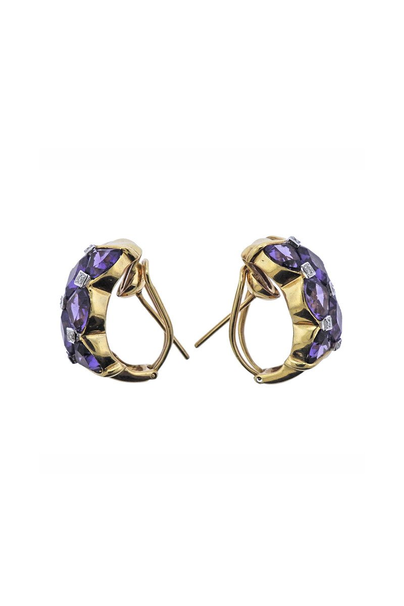 Oakgem, Bellarri Amethyst Earrings