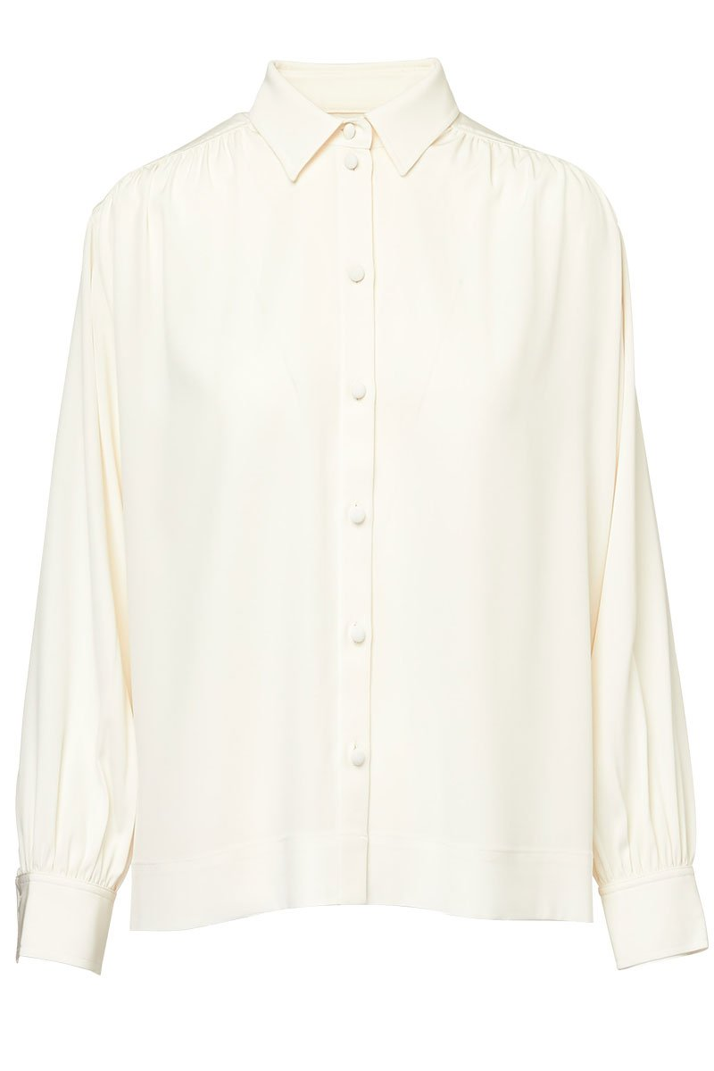 Co, Gathered Shoulder Blouse
