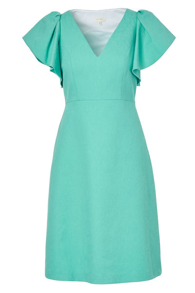 Delpozo, Flutter Sleeve Midi Dress