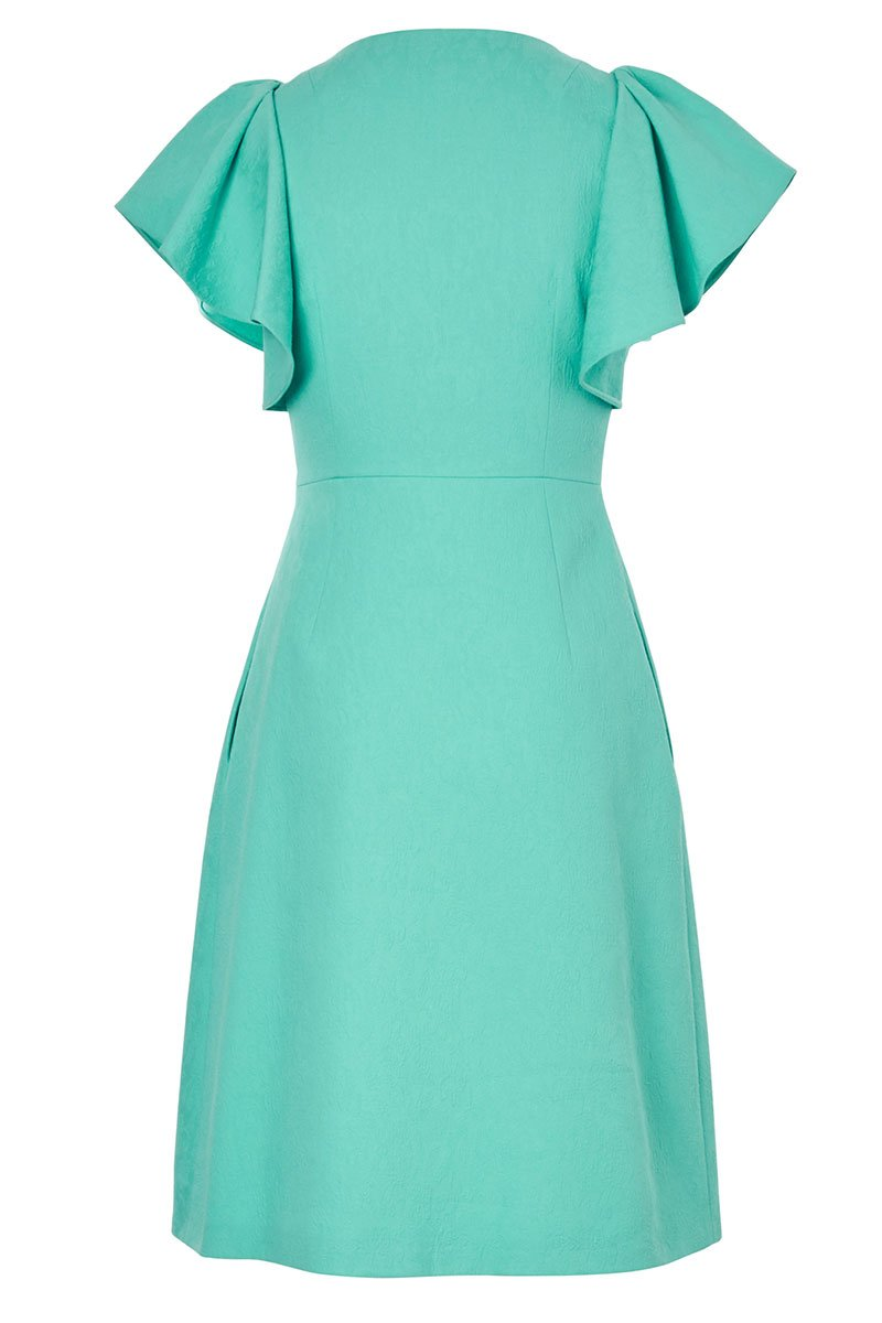 , Flutter Sleeve Midi Dress