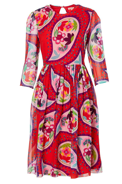 Delpozo, Floral Paisley Midi Dress