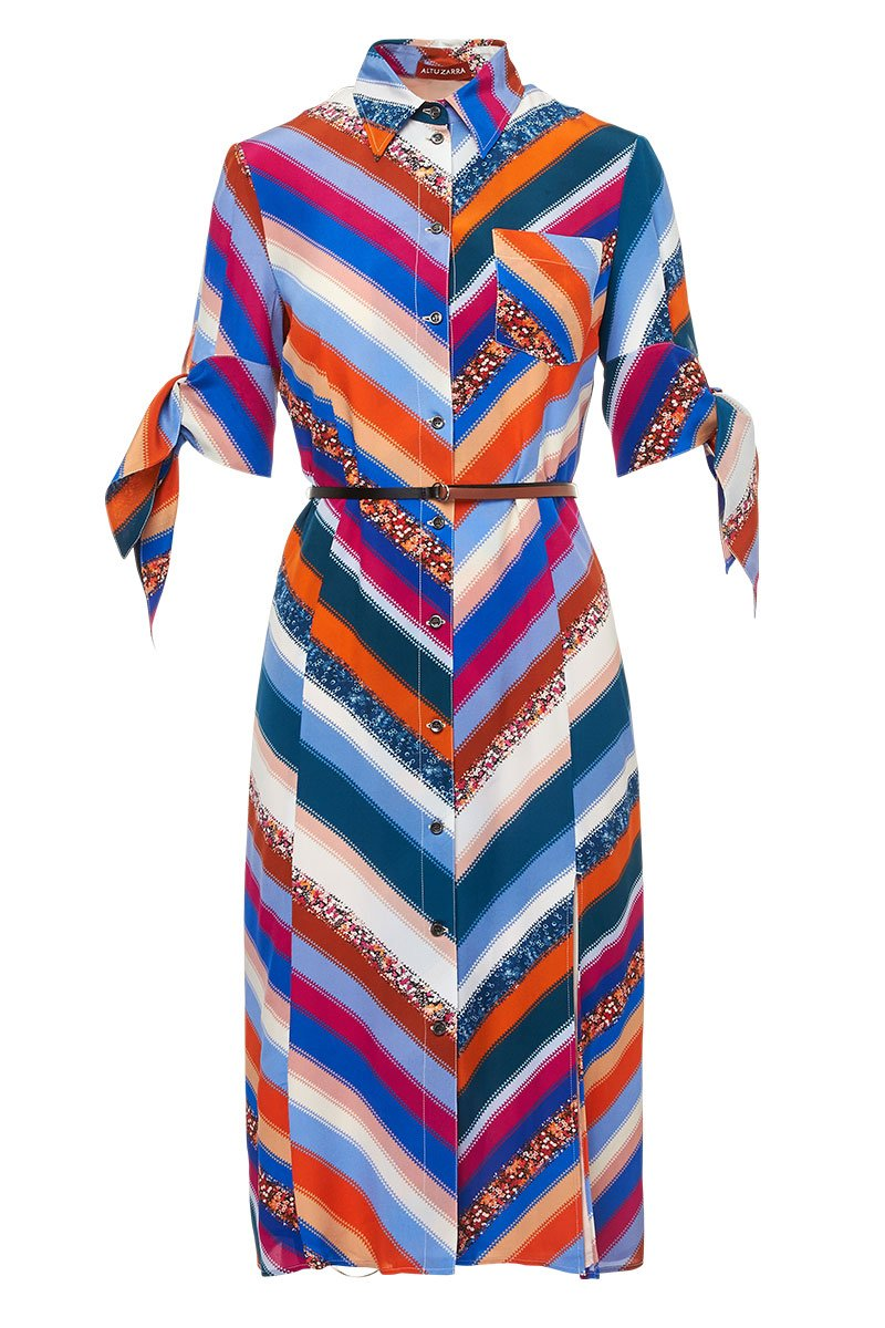 , Chevron Stripe Dress