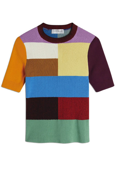 Patchwork Knitted Top