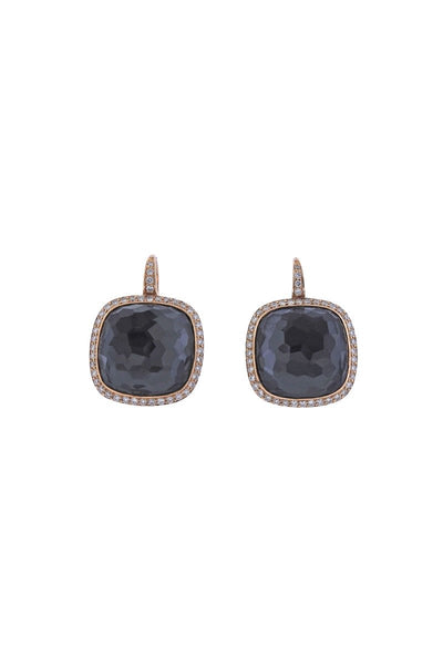 , Modern Hermatite Earrings