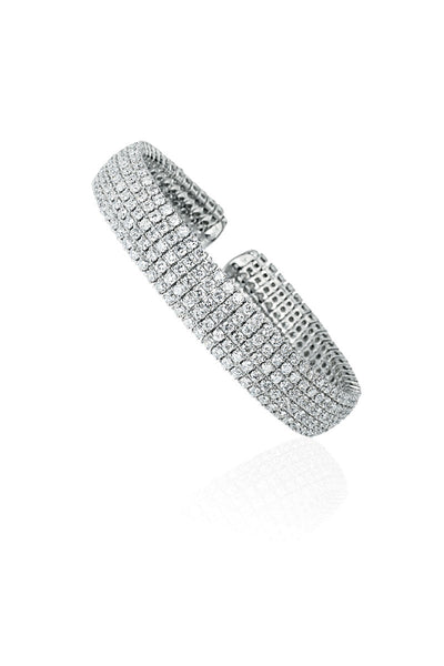 Boyds Essentials, 18kt White Gold Diamond Cuff Bracelet