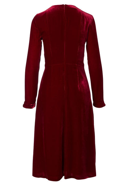Akris Punto, Velvet A-Line Midi Dress