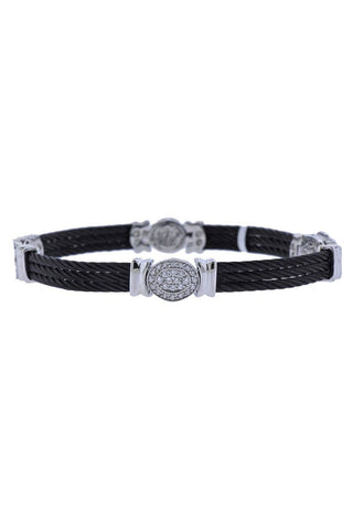 Oakgem, Charriol Celtic Noir Steel Diamond Bracelet
