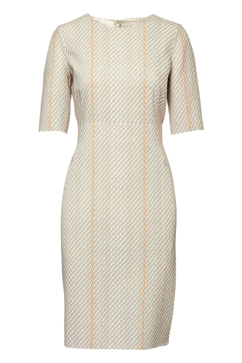 Akris, Tweed Print Sheath Dress