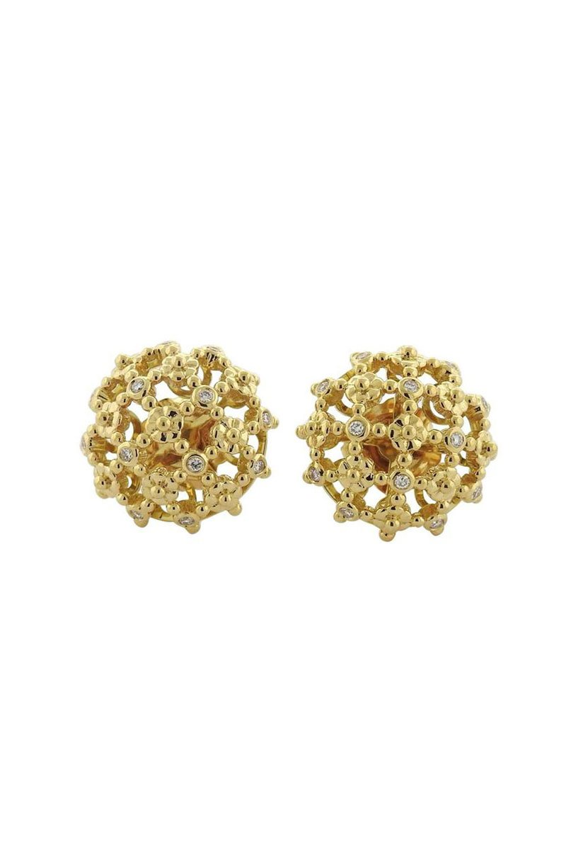 Oakgem, Temple St. Clair Flori Cluster Earrings