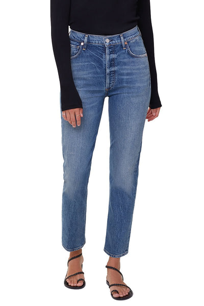 Charlotte High-Rise Straight Jeans