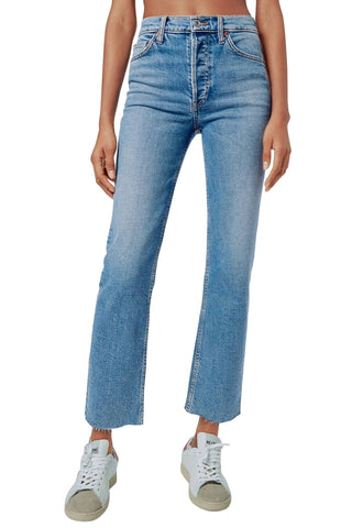 Comfort Stretch High Rise Stove Pipe Jeans