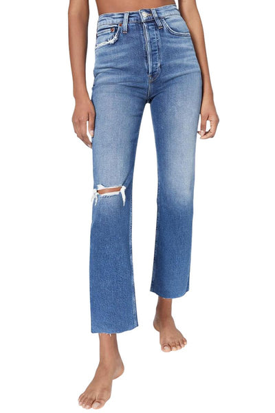 Ultra High Rise Stove Pipe Jeans