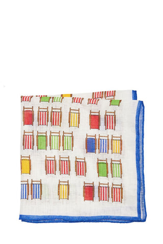 Altea, Beach Chairs Pocket Square