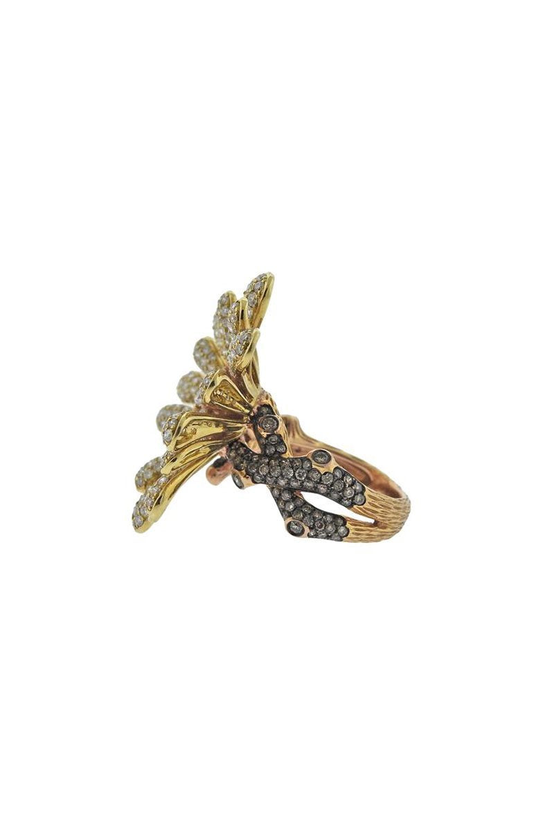 Gold Flower Cocktail Ring