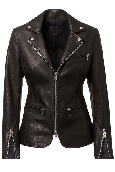 Leather Moto Blazer