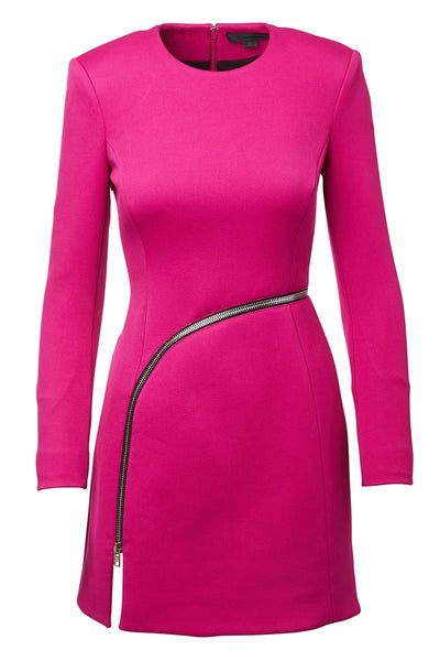 Curved Zip Detail Dress