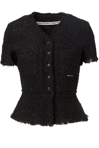 Alexander Wang, Frayed Tweed Jacket