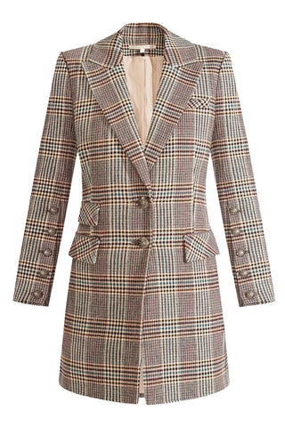 Reece Plaid Dickey Coat