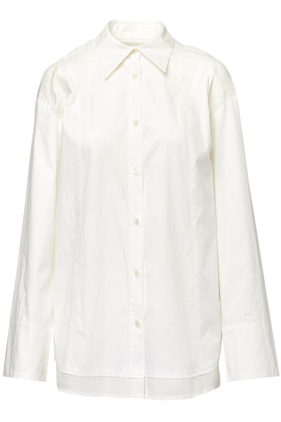 BASE MARK, Extended Button Shirt