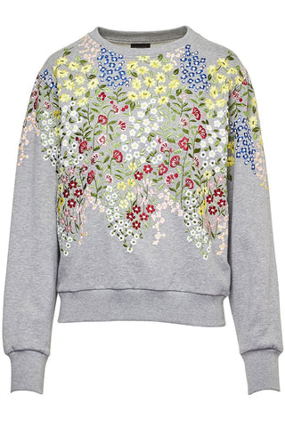 Giambattista Valli, Floral Embroidered Sweatshirt