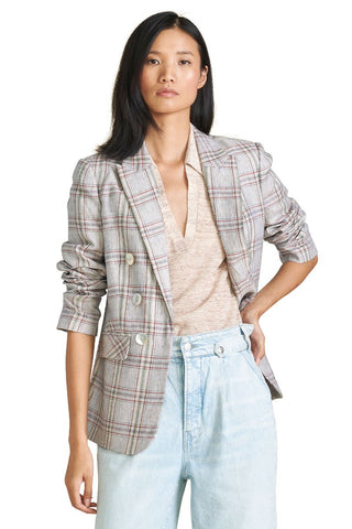 Beacon Linen Plaid Jacket