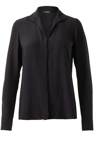 Swarovski Trim Tunic Blouse