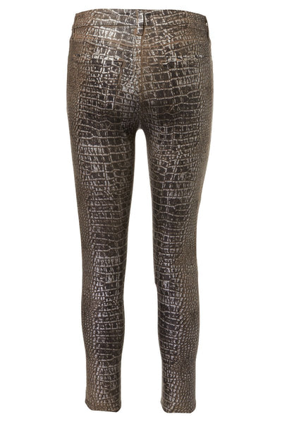 L'AGENCE, Margot Foil Crocodile Jeans