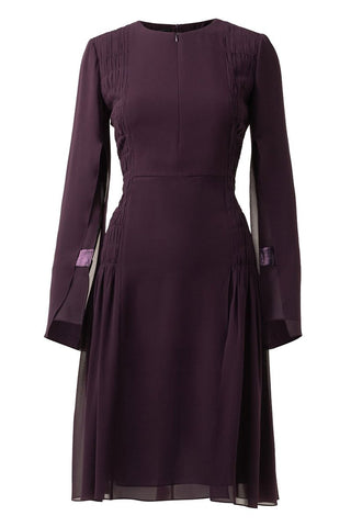 Silk Georgette Pleated Dress