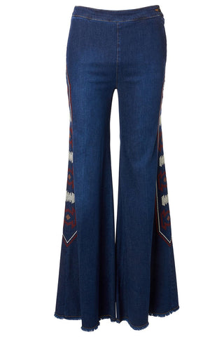 Milly Embroidered Jeans