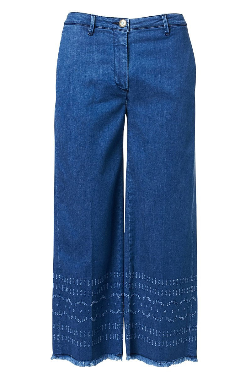 Shaft Jeans, Mara Quilted Wide Leg Jeans