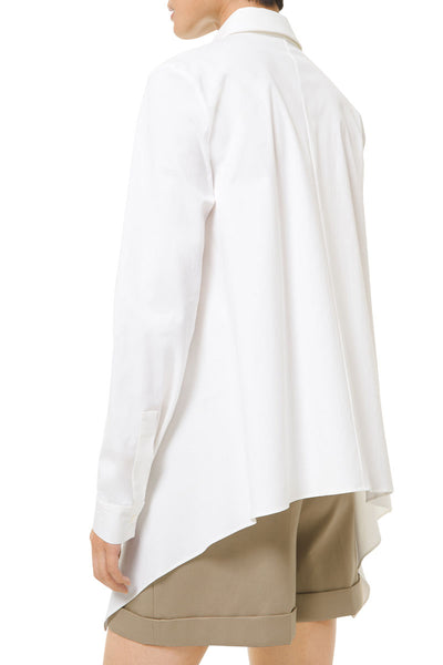 Organic Cotton Poplin Draped Shirt