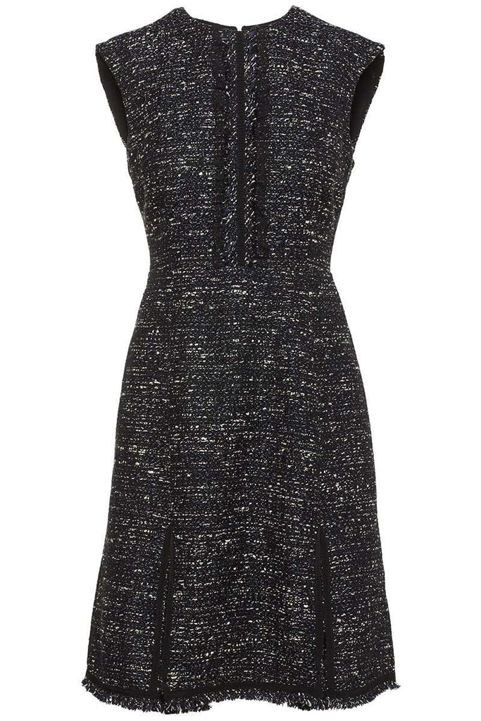 Fringe Tweed Mini Dress