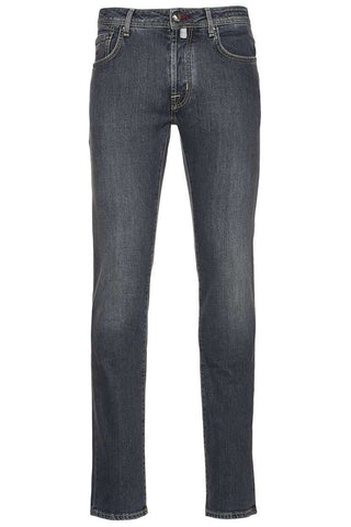 Grey Wash Straight Leg Jeans
